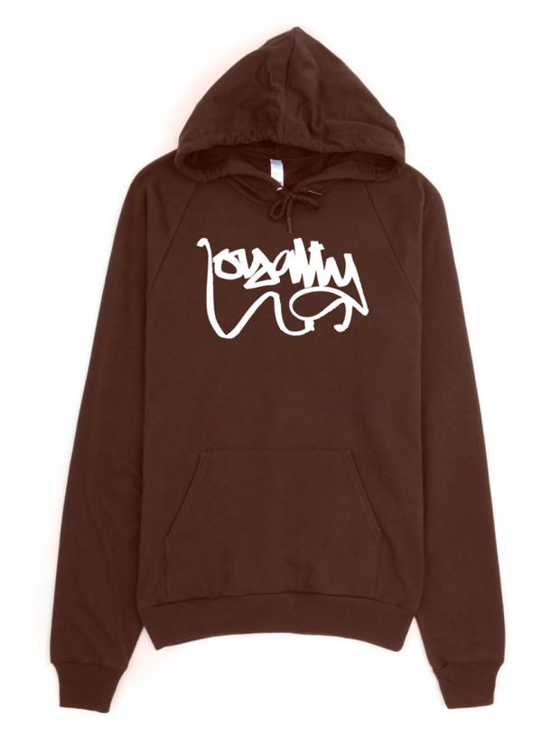Loyalty Script Tag Pullover Hoodie - Devious Elements Apparel