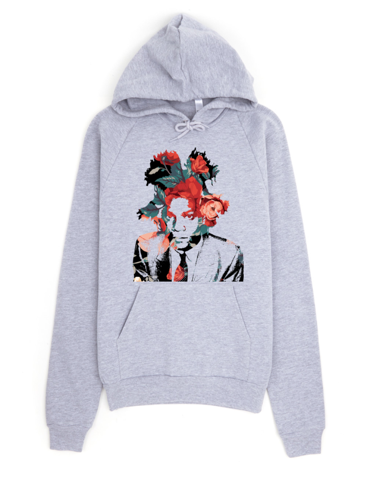 Basquiat Floral Print Pullover Hoodie Devious Elements Apparel Hoodie Basquiat Floral Print Pullover Hoodie Basquiat Floral Print Pullover Hoodie - Devious Elements Apparel