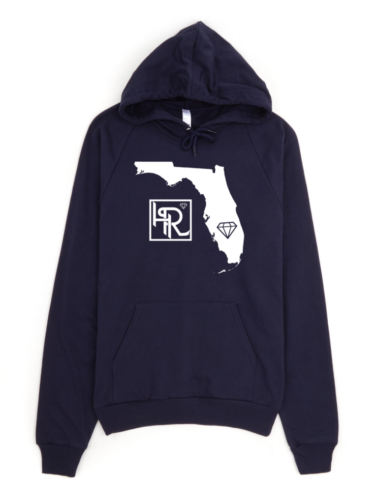 Hialeah Raised Premium Treads Florida Pullover Hoodie - Devious Elements Apparel