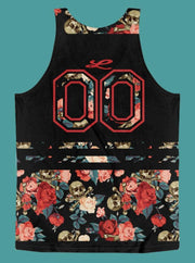 Loyalty Roses & Skulls Floral All-Over-Print Sport Tank Loyalty Tank Loyalty Roses & Skulls Floral All-Over-Print Sport Tank Loyalty Roses & Skulls Floral All-Over-Print Sport Tank - Devious Elements Apparel