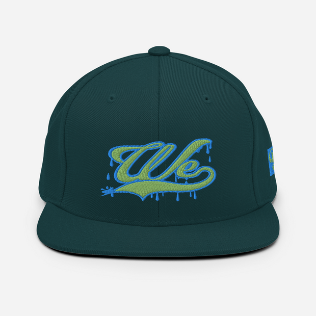 We Drippin Earth & Water Snapback Devious Elements Apparel hat We Drippin Earth & Water Snapback We Drippin Earth & Water Snapback - Devious Elements Apparel
