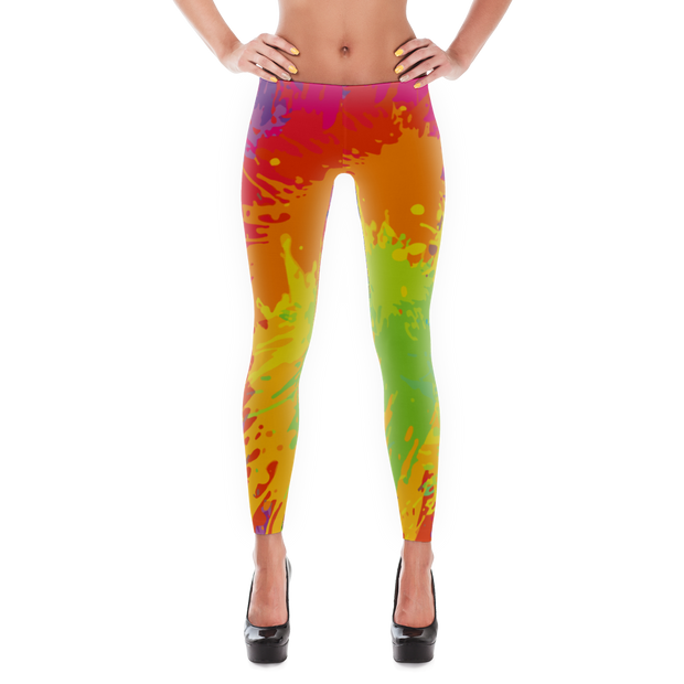 Paint Splatter Fun Leggings - Devious Elements Apparel
