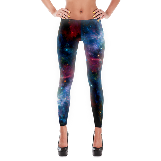Nebula Outer Space Print Leggings - Devious Elements Apparel