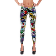 DE Funky Graffiti Pattern Print Leggings Devious Elements Apparel Leggings DE Funky Graffiti Pattern Print Leggings DE Funky Graffiti Pattern Print Leggings - Devious Elements Apparel