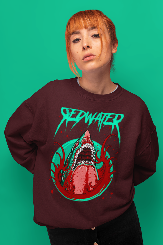 Shark Attack Redwater Unisex Crew Neck Sweatshirt Derek Garcia Sweatshirt Shark Attack Redwater Unisex Crew Neck Sweatshirt Shark Attack Redwater Unisex Crew Neck Sweatshirt - Devious Elements Apparel
