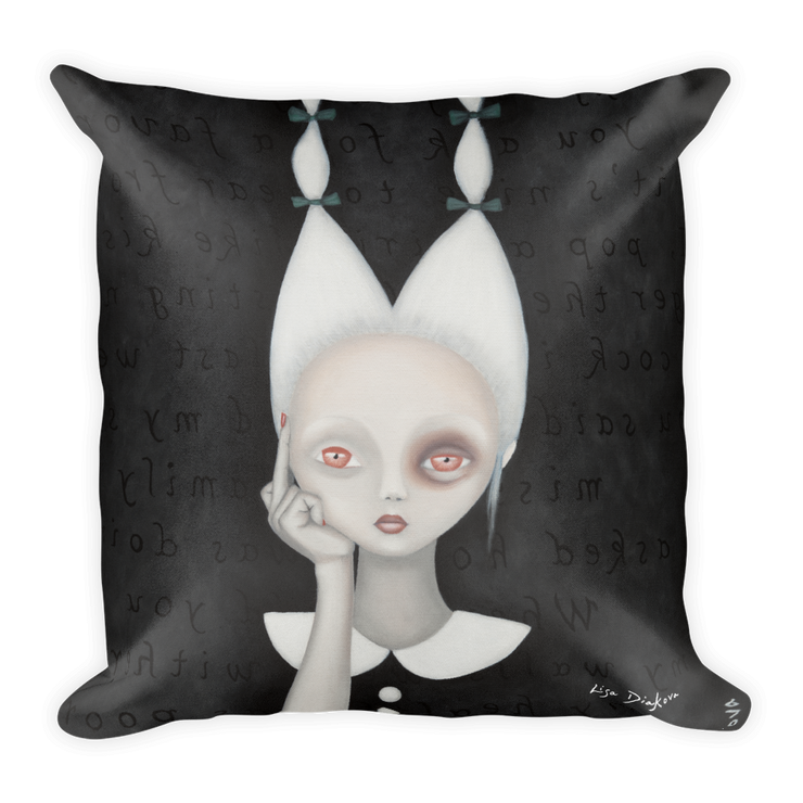Silly Wabbit Square Print Pillow - Devious Elements Apparel