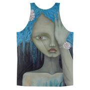 Blue Hair Unisex All-Over-Print Tank - Devious Elements Apparel