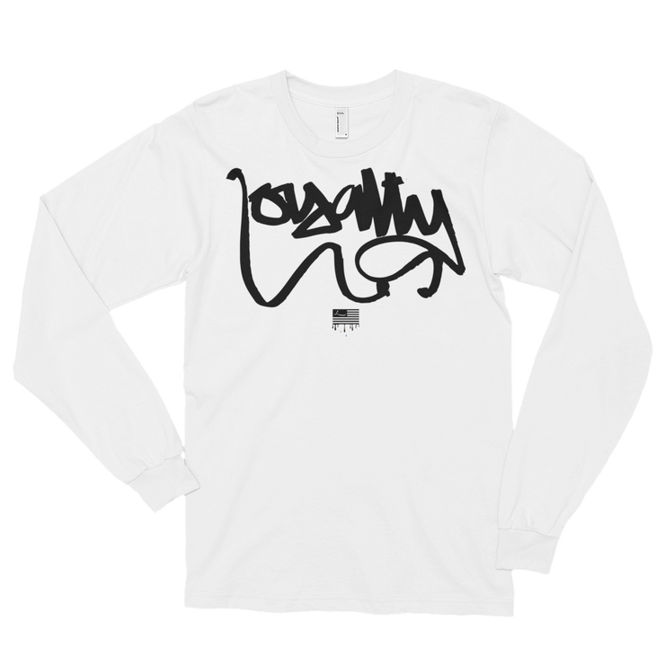Loyalty Script American Flag Long Sleeve T-shirt - Devious Elements Apparel