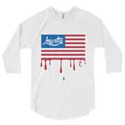 Loyalty Flag Drip 3/4 Sleeve Crew T-shirt Loyalty Shirt Loyalty Flag Drip 3/4 Sleeve Crew T-shirt Loyalty Flag Drip 3/4 Sleeve Crew T-shirt - Devious Elements Apparel