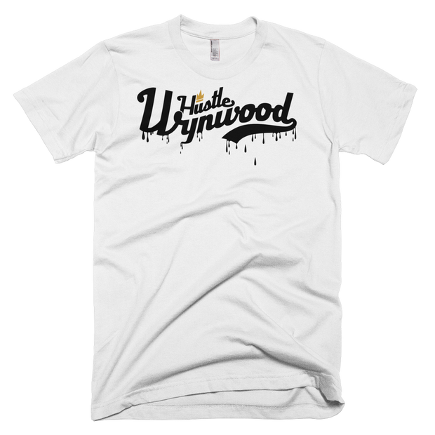 Hustle Wynwood Drip Crew T-shirt White - Devious Elements Apparel