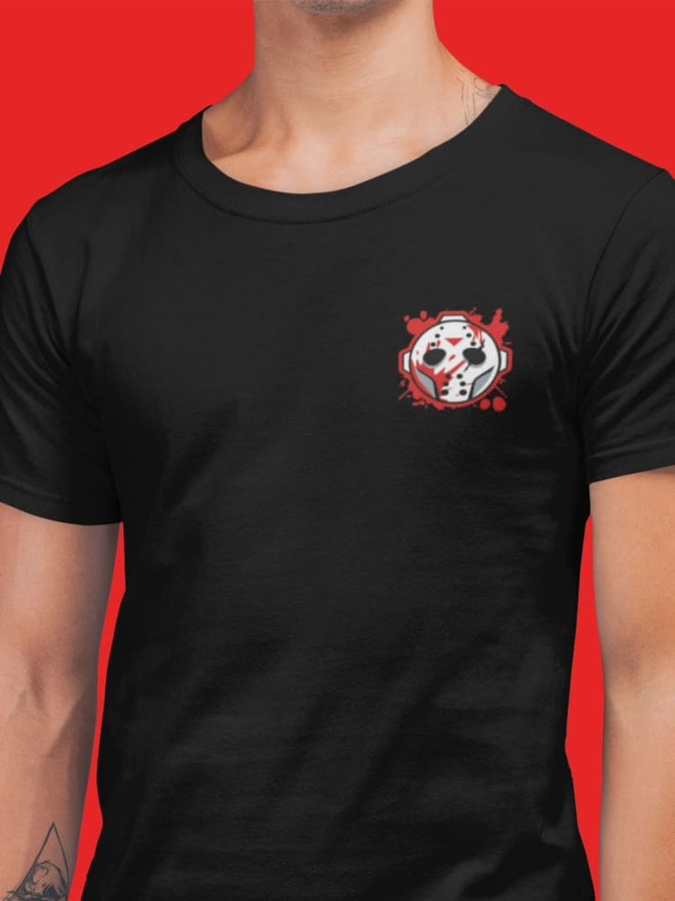 Voorhees Blood Mask Chest Embroidery Unisex Crew T-shirt Loyalty Mask Voorhees Blood Mask Chest Embroidery Unisex Crew T-shirt Voorhees Blood Mask Chest Embroidery Unisex Crew T-shirt - Devious Elements Apparel