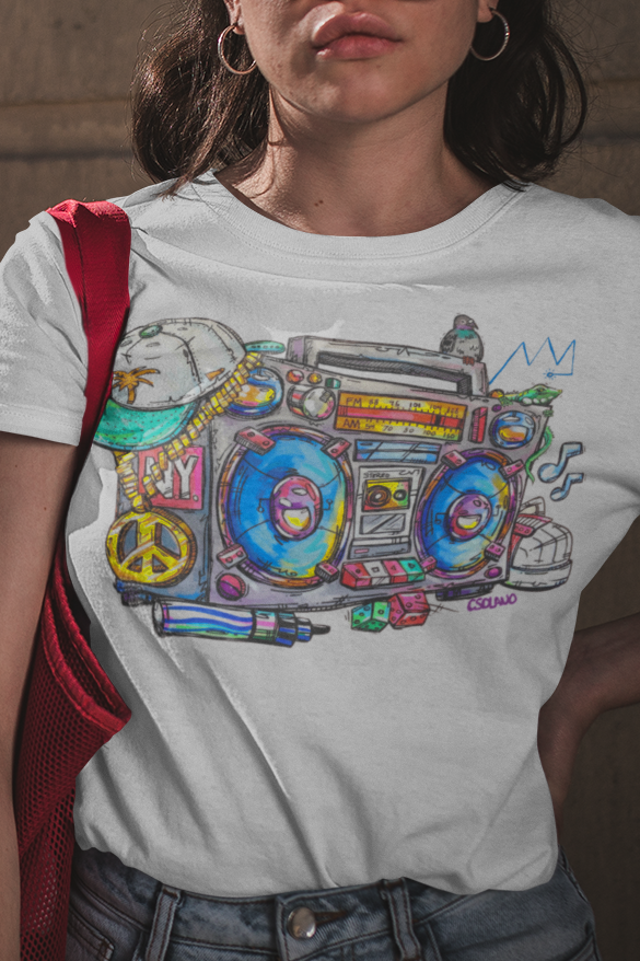Boom Box Unisex Crew T-Shirt - Devious Elements Apparel