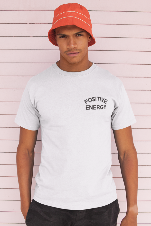 Positive Energy Embroidery Chest Unisex Crew T-Shirt Carlos Solano Shirt Positive Energy Embroidery Chest Unisex Crew T-Shirt Positive Energy Embroidery Chest Unisex Crew T-Shirt - Devious Elements Apparel