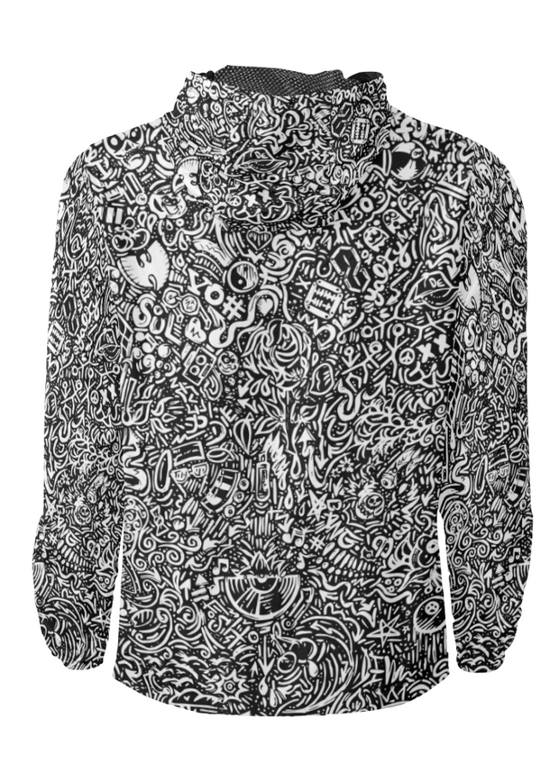 Devious Doodle Print Windbreaker Zipper Hoodie Devious Elements Apparel Windbreaker Hoodie Devious Doodle Print Windbreaker Zipper Hoodie Devious Doodle Print Windbreaker Zipper Hoodie - Devious Elements Apparel