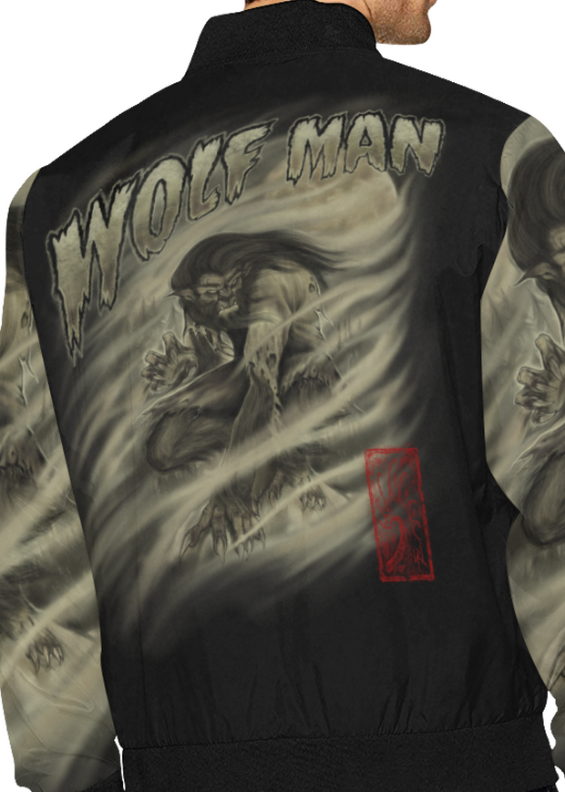 Wolf Man Bomber Windbreaker Jacket
