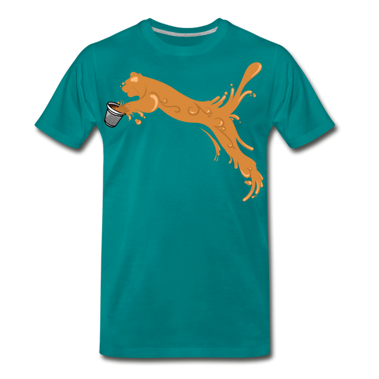 Espuma Cup Splash Men's Premium T-Shirt - teal