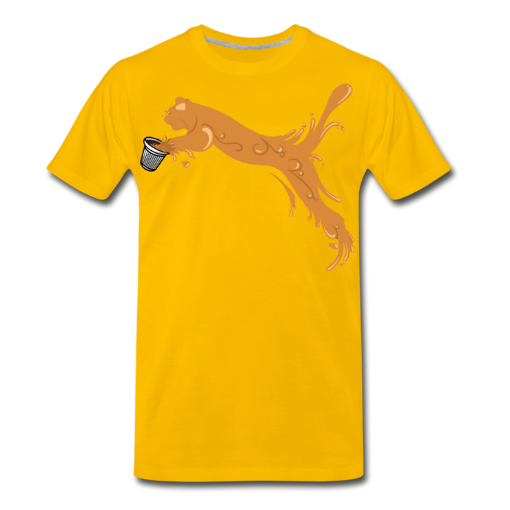 Espuma Cup Splash Men's Premium T-Shirt - sun yellow
