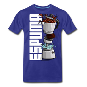 Espuma Dissected Cafetera Men's Premium Cut Crew T-Shirt - royal blue