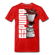 Espuma Dissected Cafetera Men's Premium Cut Crew T-Shirt - red
