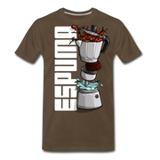 Espuma Dissected Cafetera Men's Premium Cut Crew T-Shirt - noble brown