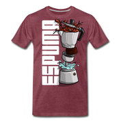 Espuma Dissected Cafetera Men's Premium Cut Crew T-Shirt - heather burgundy