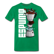 Espuma Dissected Cafetera Men's Premium Cut Crew T-Shirt - kelly green