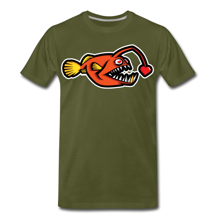 Love Chaser Men's Premium Cut Crew T-Shirt - olive green