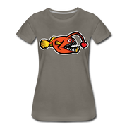 Love Chaser Women's Premium Cut Crew T-Shirt - asphalt gray