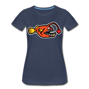Love Chaser Women's Premium Cut Crew T-Shirt - navy
