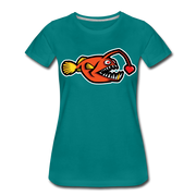 Love Chaser Women's Premium Cut Crew T-Shirt - teal
