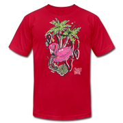 Flamingo Floatie Unisex Graphic Crew T-shirt - red