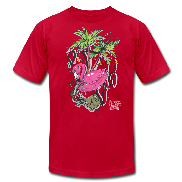 Flamingo Floatie Unisex Graphic Crew T-shirt Goopmassta Shirt Flamingo Floatie Unisex Graphic Crew T-shirt Flamingo Floatie Unisex Graphic Crew T-shirt - Devious Elements Apparel