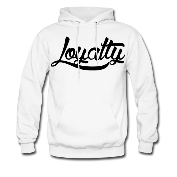 Loyalty Classic BLK Logo Pullover Hoodie - white