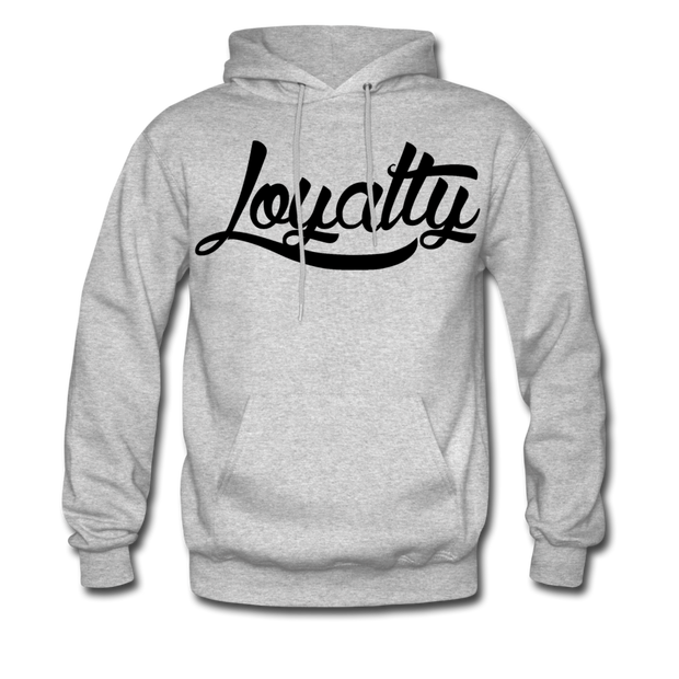Loyalty Classic BLK Logo Pullover Hoodie - heather gray
