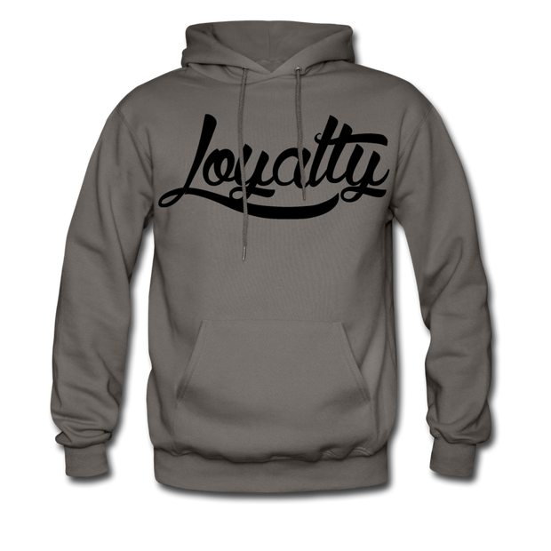 Loyalty Classic BLK Logo Pullover Hoodie - asphalt gray