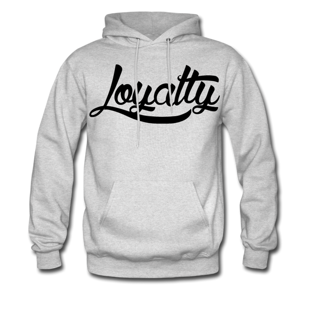 Loyalty Classic BLK Logo Pullover Hoodie - ash
