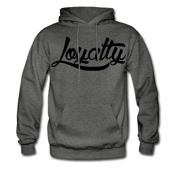 Loyalty Classic BLK Logo Pullover Hoodie - charcoal gray