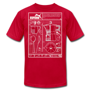 Cafecito Blueprint OG Unisex Crew T-Shirt NEW - red
