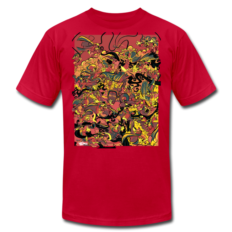 Retro Duck Battle Red Fire Unisex Crew Devious Elements Apparel Shirt Retro Duck Battle Red Fire Unisex Crew Retro Duck Battle Red Fire Unisex Crew - Devious Elements Apparel