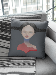 Seven Square Print Pillow