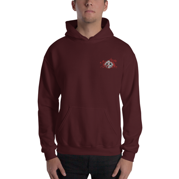 Voorhees Blood Mask Loyalty Logo Embroidered Unisex Hoodie Loyalty Hoodie/Embroidered Voorhees Blood Mask Loyalty Logo Embroidered Unisex Hoodie Voorhees Blood Mask Loyalty Logo Embroidered Unisex Hoodie - Devious Elements Apparel