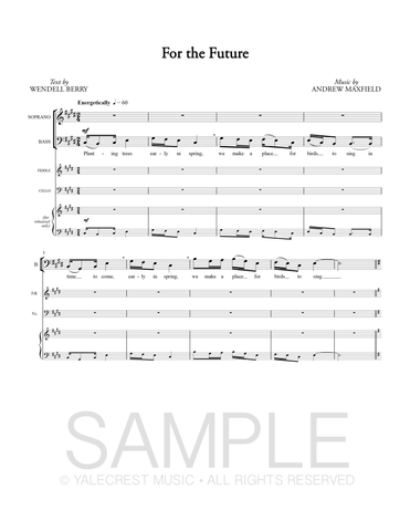 For the Future (PDF Sheet Music)