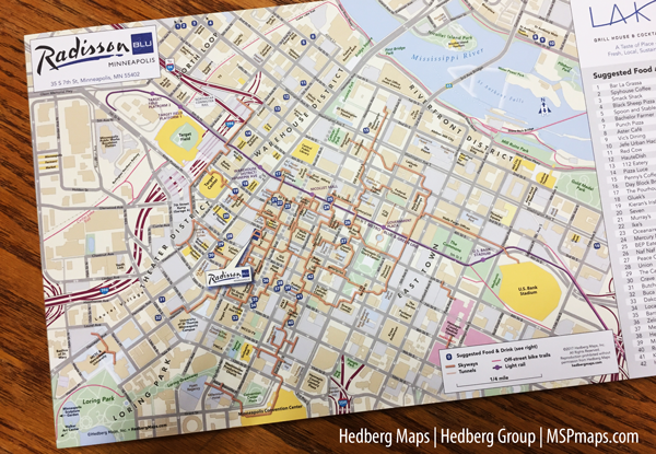 Radisson Blu Hotel's customized Hedberg Map