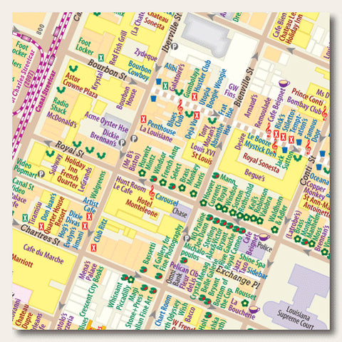 photograph about Printable Walking Map of New Orleans named Samples of Perform Hedberg Maps