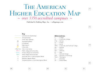 American Higher Education - Folded Map