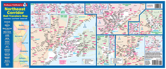 Northeast Corridor Rail Travelers Map