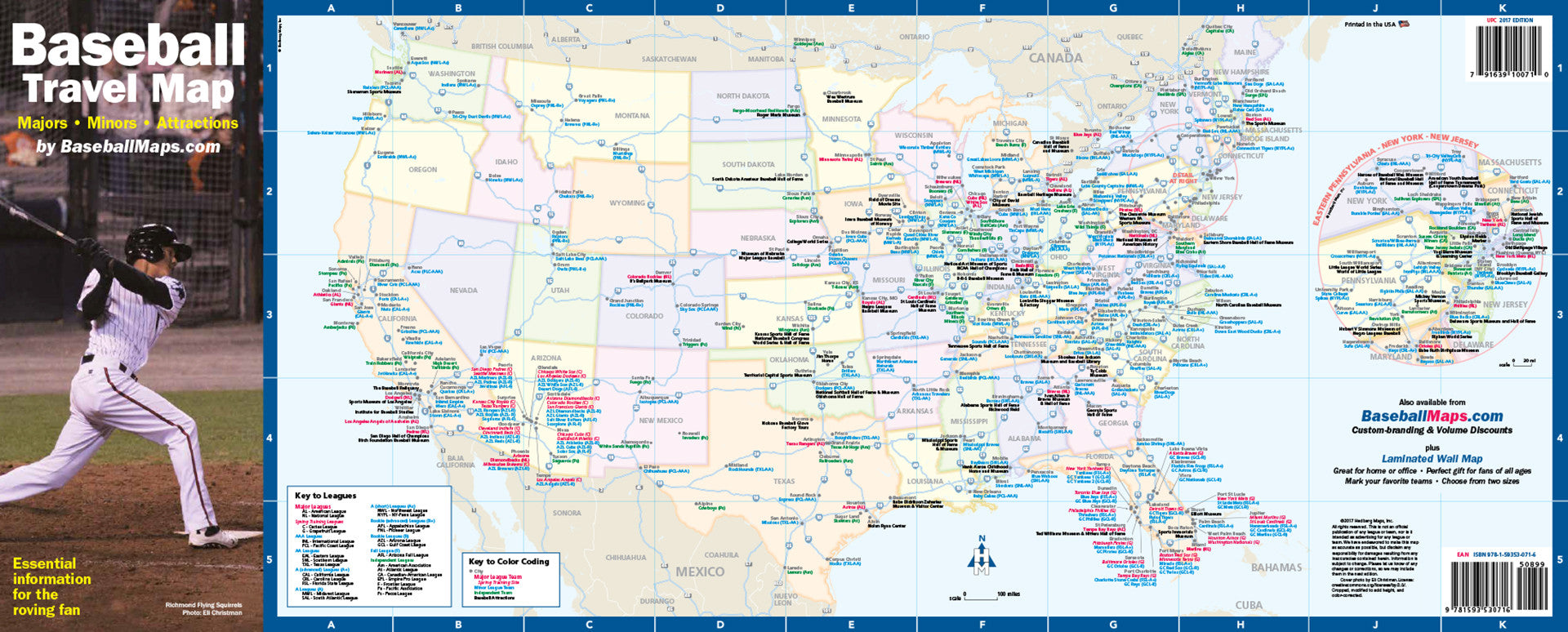 Major League Baseball Map With All Ball Clubs Showing Each A - Us baseball map