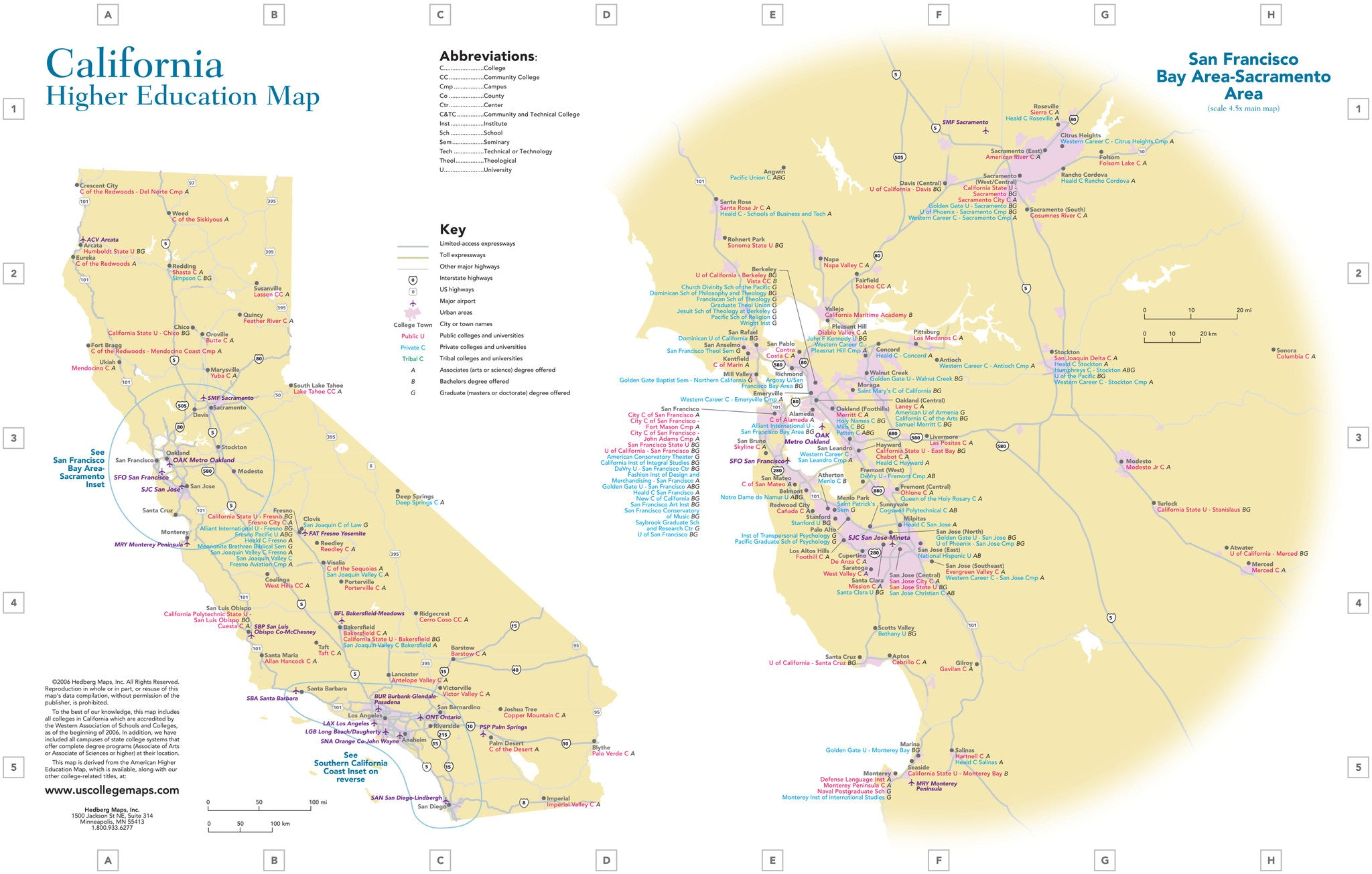 Universities And Colleges In California Map.U S Colleges Universities By State 11