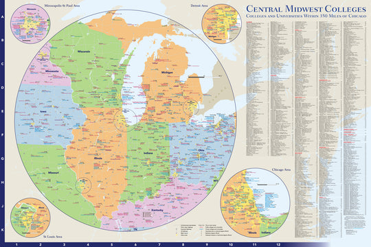 Central Midwest Colleges and Universities