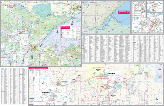 Duluth, MN, Area Street Map